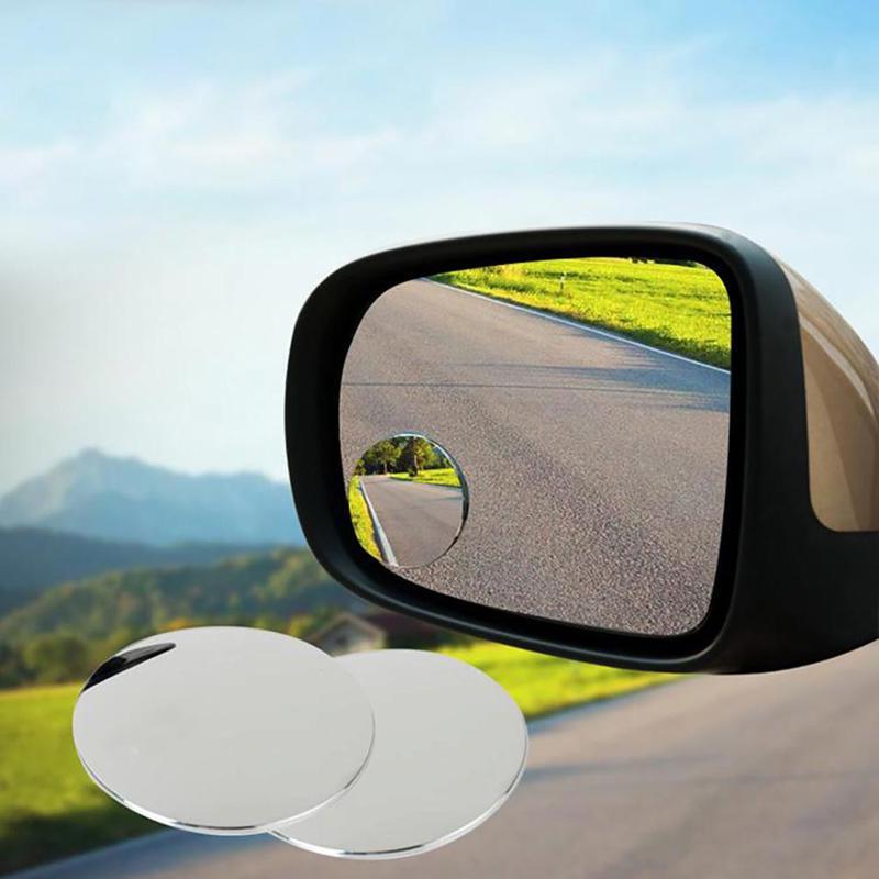 Автомобиль стиль 360 градусов Framless слепое пятно зеркало широкий угол вокруг HD стекло выпуклые зеркала заднего вида фото