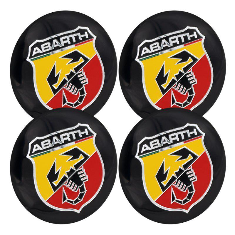 56.5mm Abarth Car Emblem Wheel Center Hub Cap Badge wheel Decal Sticker Car Acce