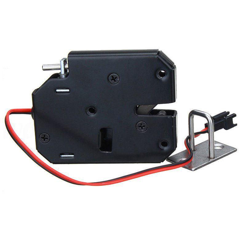 150KG 330lb Cerradura magn/ética el/éctrica Puerta Control DC 12V Gabinete Caj/ón Cerradura electromagn/ética con desbloqueo de emergencia-Negro-1 Tama/ño