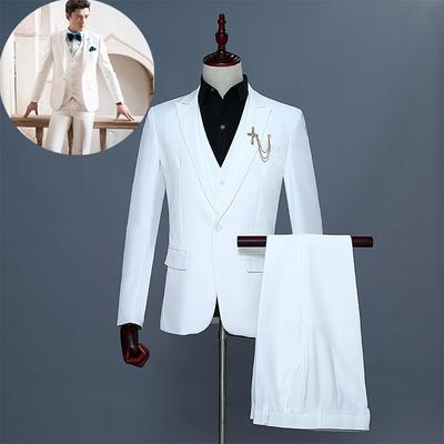 Fashion Men Business Casual Suit Suit Two Piece Suit Trousers Slim Formal Wear Buy At A Low Prices On Joom E Commerce Platform