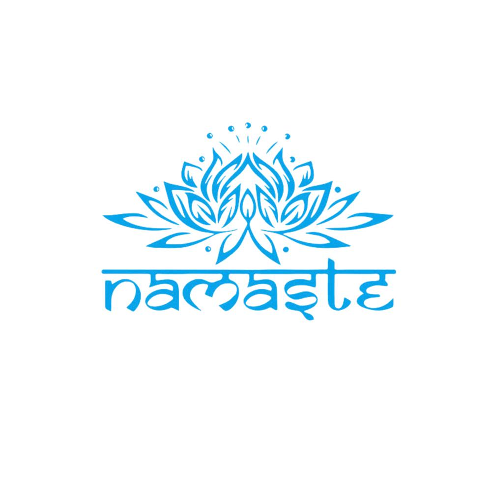 ig5763 Details about  /Vinyl Wall Decal Namaste Lotus Hinduism Room Home Art Stickers Mural