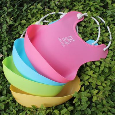 Baby Feeding Bib 3D Meal Pocket Waterproof Imitation Silicone Infant Food Saliva Towel