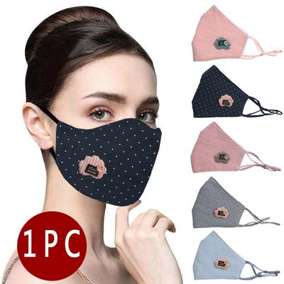 tabajw.1PC Cotton Adult Printing Breathable Protection Face Cover Reuse Washable Mask