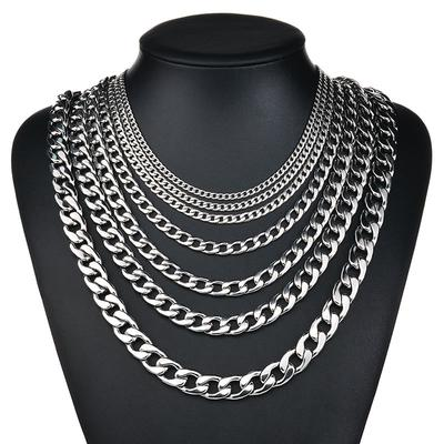 Mens Necklace Chain Silver Stainless Steel Necklaces for Men