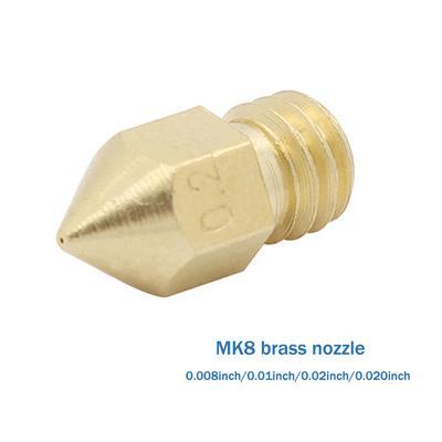 MagiDeal 3D Printer Stainless Nozzle Head 0.4mm Caliber M7 Screw Thread