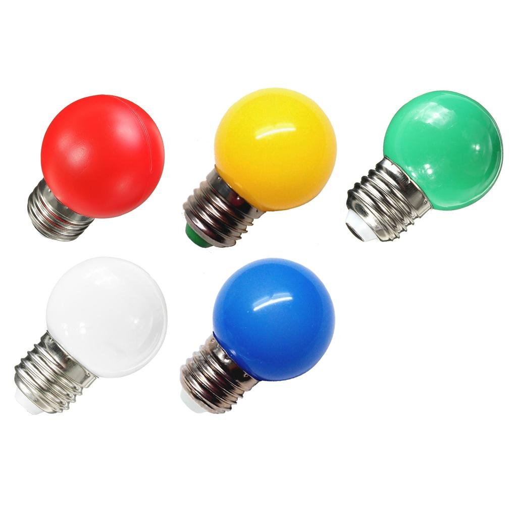 Colored Bulbs LED 2W E27 G45 Lighting Bulb for Party Lighting,Outdoor Patio Party Christmas,LED Coloured GolfBall Bulb Orange