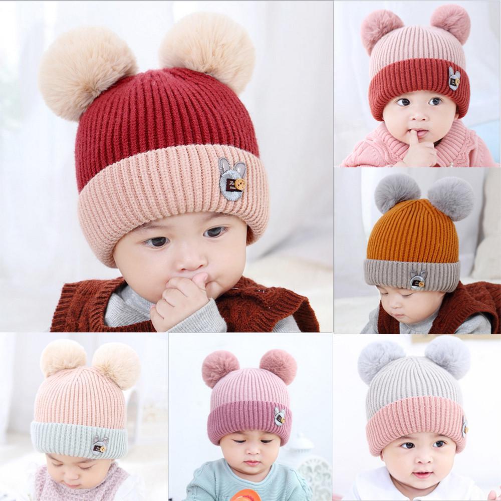 Cute Toddler Kids Girls Boys Baby Infant Winter Warm Crochet Knit Hat Beanie Cap