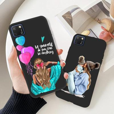 Anti Falling Phone Cases For Huawei  Y6 Honor 10 8s 30 20Pro 4T 4 5G Play P Smart Soft Black Silicne Cute Patterns Phone Cover