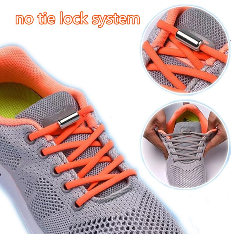 Shoe Laces Lock Unsiex Kids No Tie Locking Shoelaces Sneaker Shoe Fastening