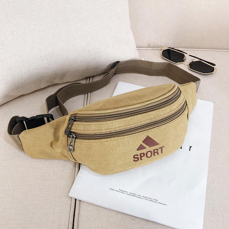 Unisex Military Fanny Waist Pack Waist Bags Belt Canvas Hip Bum Casual Bag Pouch