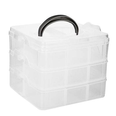 3 Layer 30 Slots Plastic Jewelry Box Beads Holder Storage Box Organizer