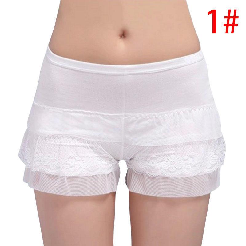Unterwäsche & Schlafanzug Frauen Elastische Sicherheits Kurze Hosen Damen Spitze Nahtlose Kurze Hosen Unterwäsche Dame Shorts Anti-licht Verkaufspreis