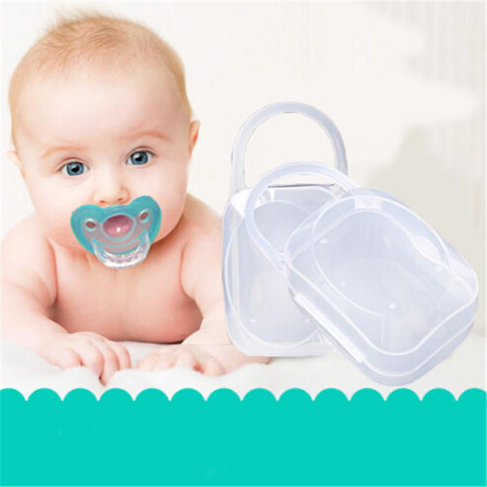 Portable Boy Infant Pacifier Nipple Case Cradle Holder Storage Box Baby Supply