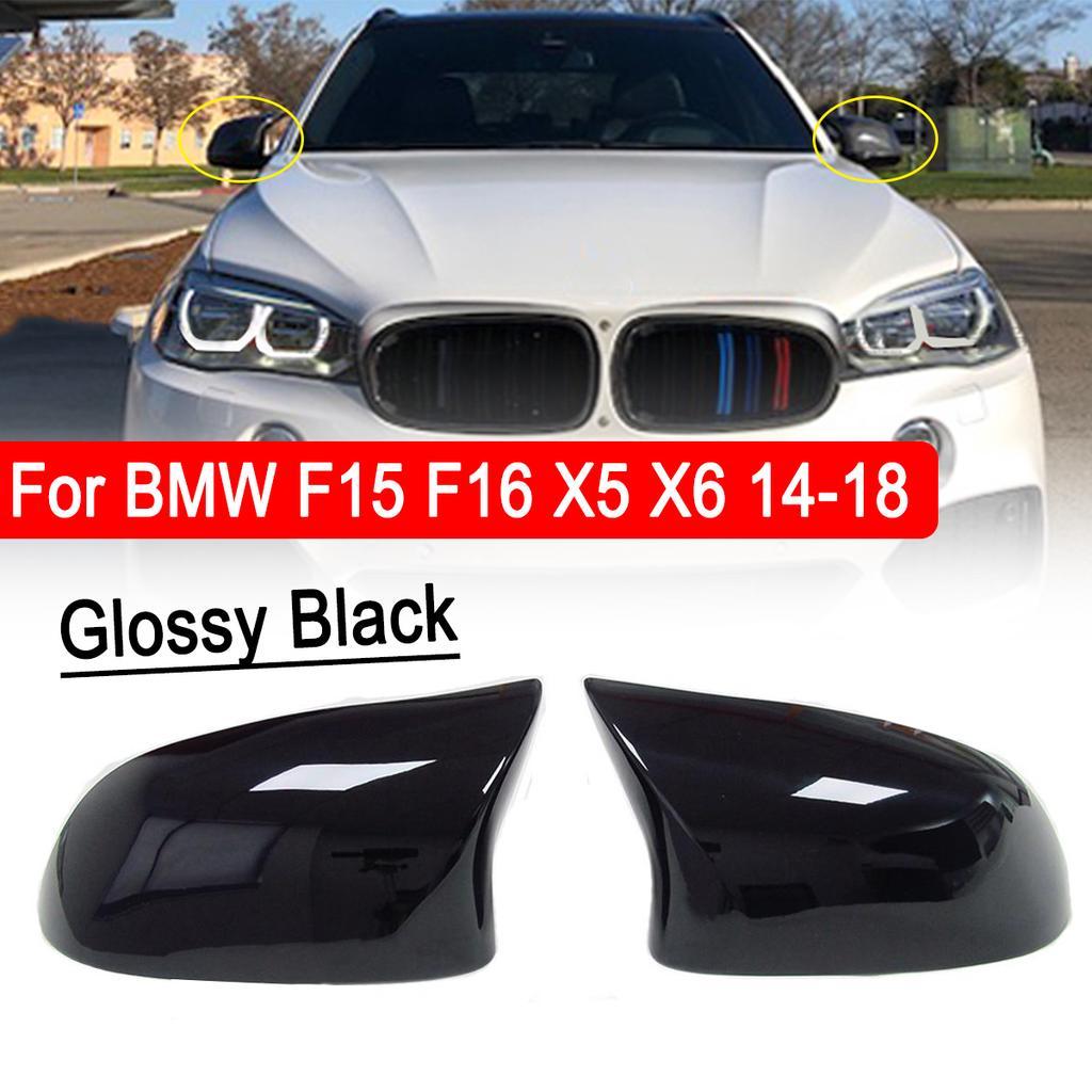 Black Interior Door Bowl Cover Trim Gloss Black ABS Chrome For BMW X5 X6 F15 F16 2014 2015 2016 2017 2018 Auto Accessories