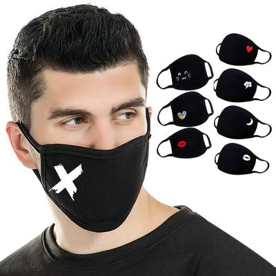[SJ] 1PC Unisex Print Lovely Reusable Cotton Mouth Face Masks Mouth Cover