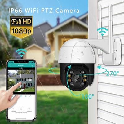 2021 HD 1080P WiFi 2MP Camera Wireless IP Security Surveillance Camera with Onvif Outdoor Infrared CMOS Camera External TF Card