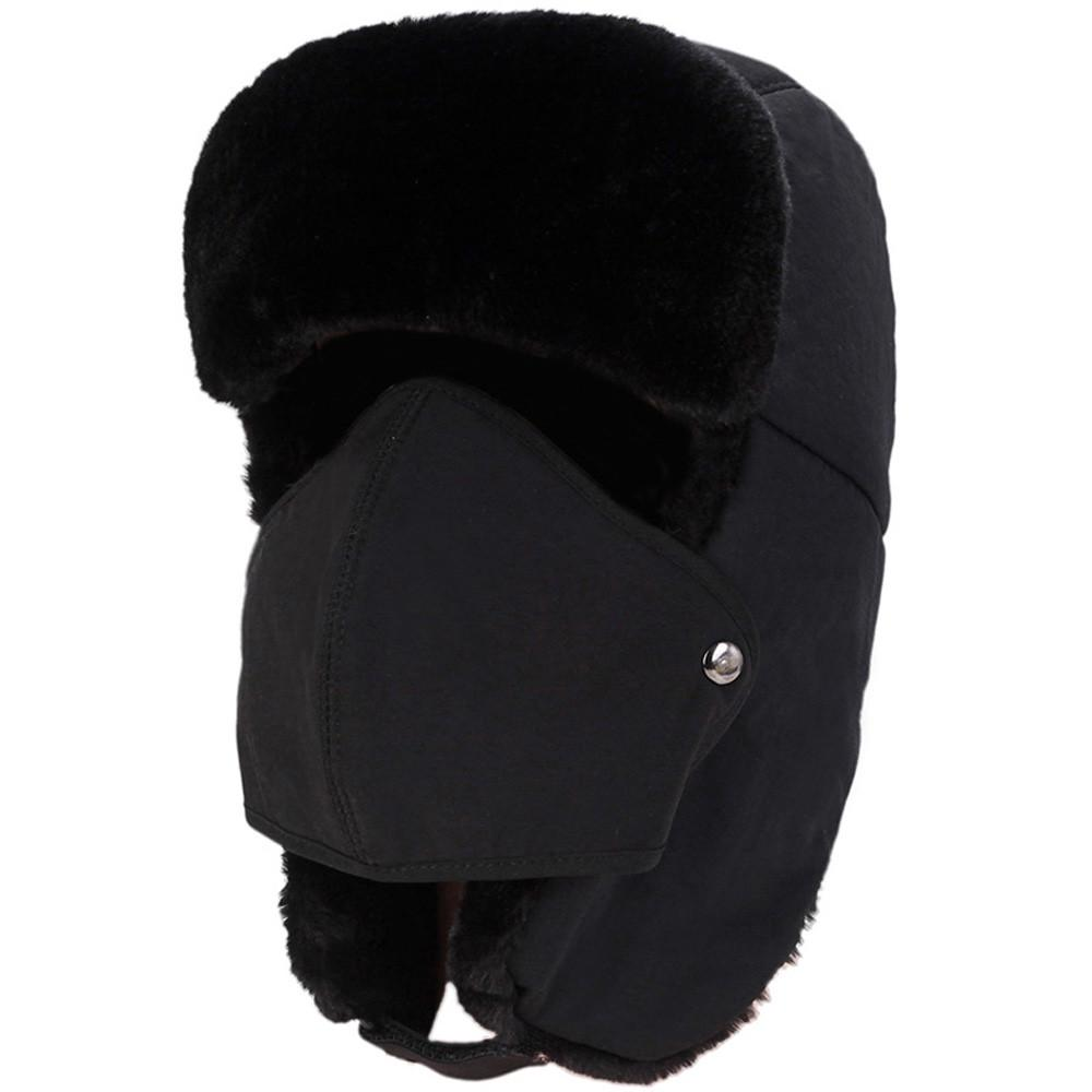 Unisex Trooper Trapper Hat Thermal Thicken Fur Waterproof Winter Windproof Lei Feng Bomber Hat