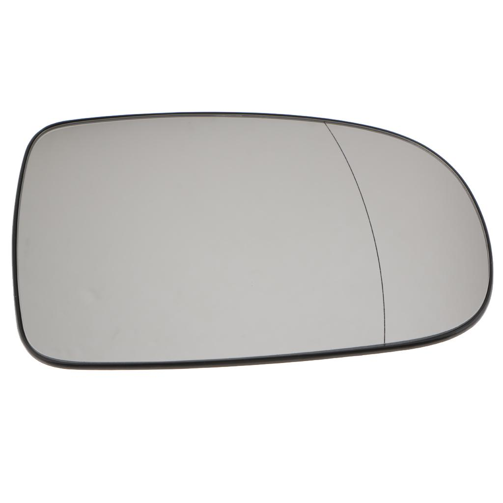 Right Driver side mirror glass for Vauxhall Corsa C 2001-2006 wide angle heated