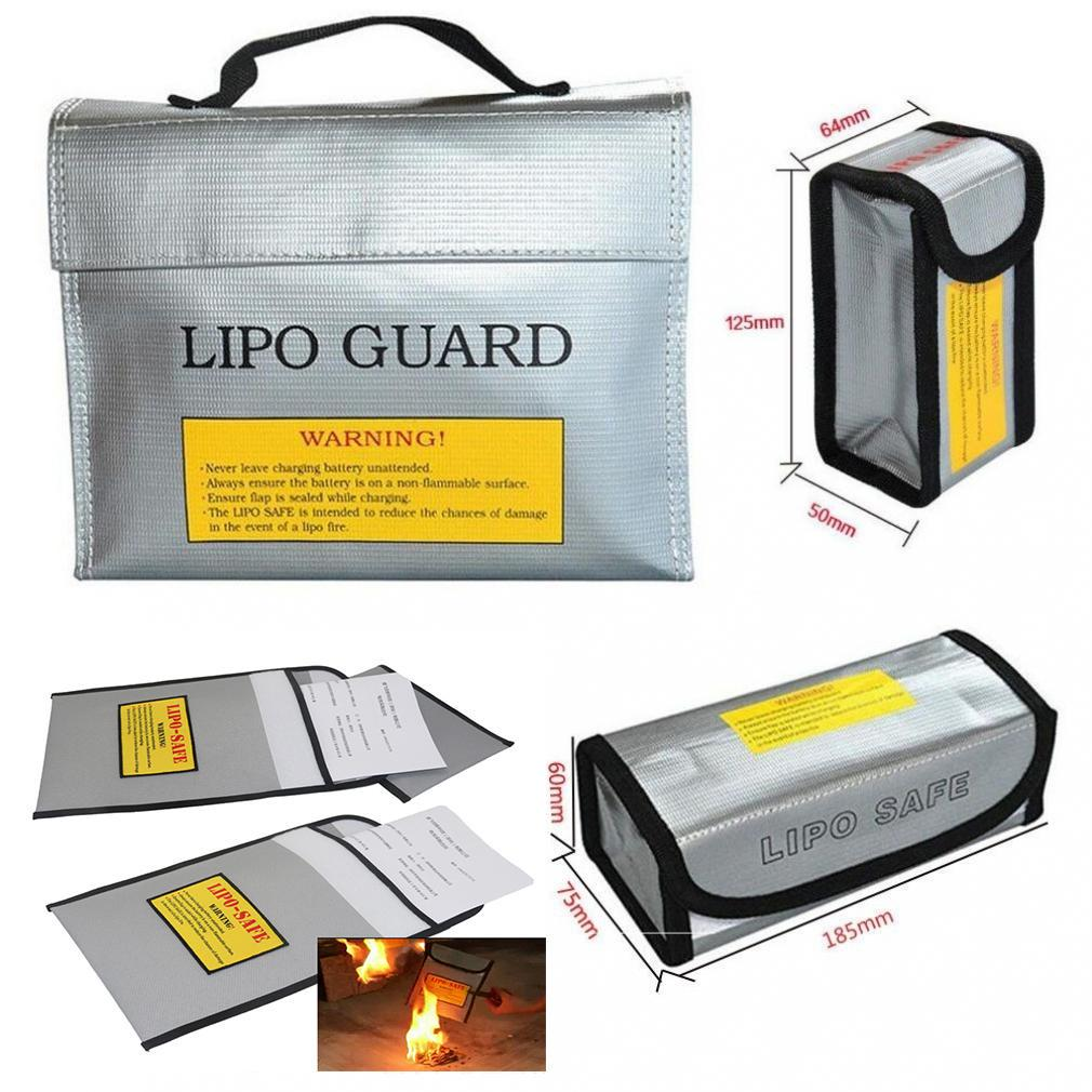 180 x 75 x 60mm LiPO Battery Fireproof Charge Safety Bag