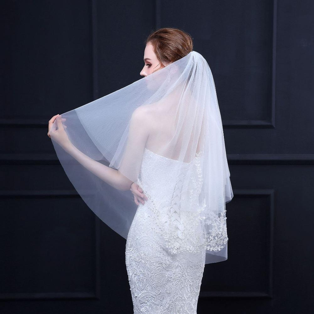 Bridal Veil 18 Tier Wedding Veils Short For Women With Comb
