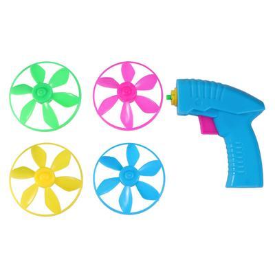 1PC Durable Pratical Nontoxic Peashooter Flying Saucer Toys