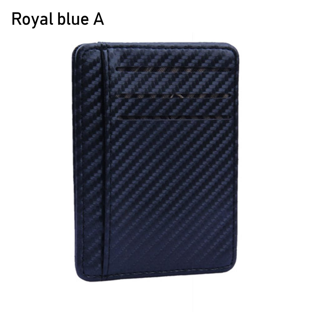 Holder Pu Leather Coin Pocket Money Clip RFID Blocking Anti-chief Slim Wallet