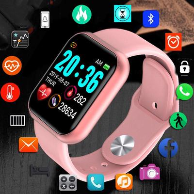 The Y68 smartwatch with a 1.3 inch screen, IP67 water protection and a pulsometer