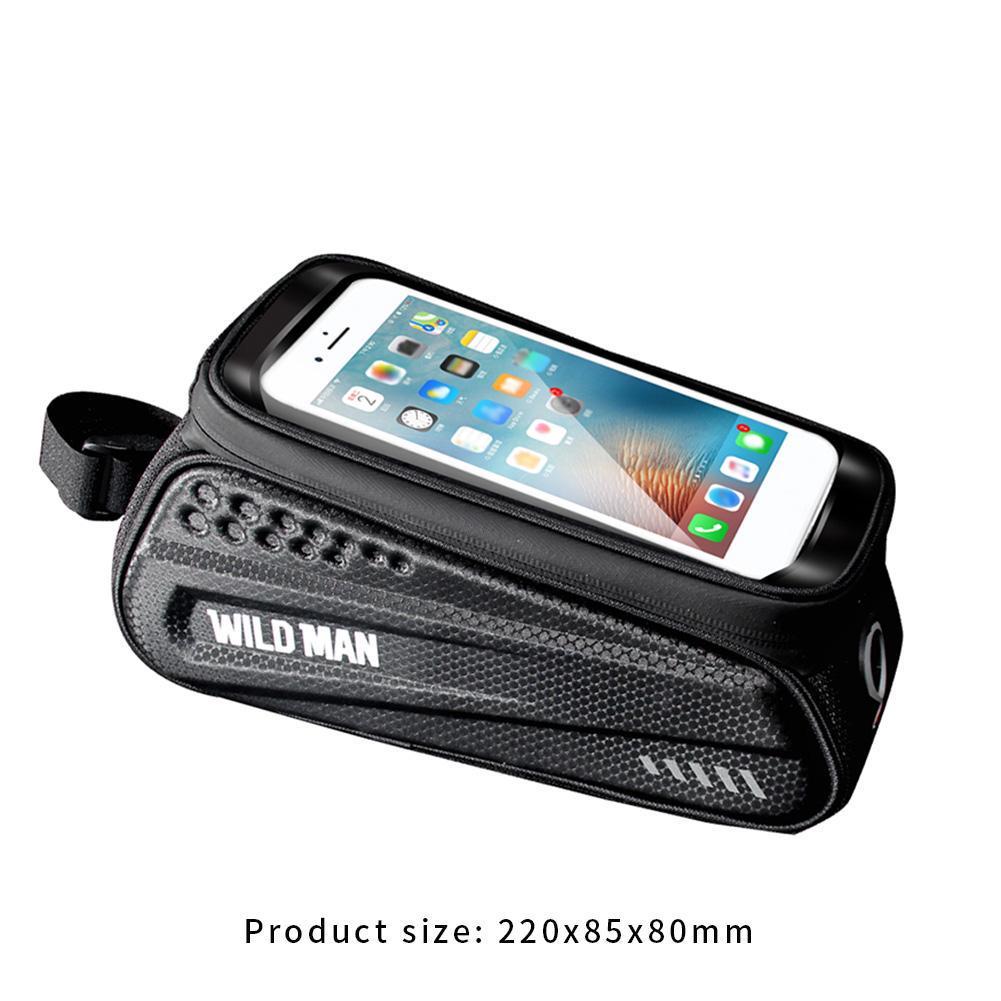 "Bike Cycling Top Front Tube Frame Bag 4.7-6.2/"" TouchScreen Phone Case Waterproof"