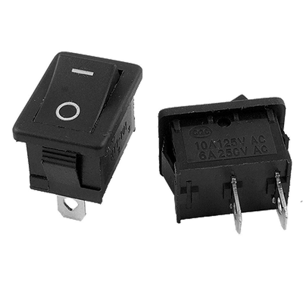 Hot Sale 20pcs AC 250V 3A 2 Pin ON//OFF I//O SPST Snap in Mini Boat Rocker Switch