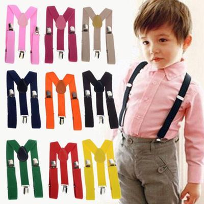 Y-back Clip On Braces Suspenders Elasticated Adjustable Baby Kid Boys Bowtie Set