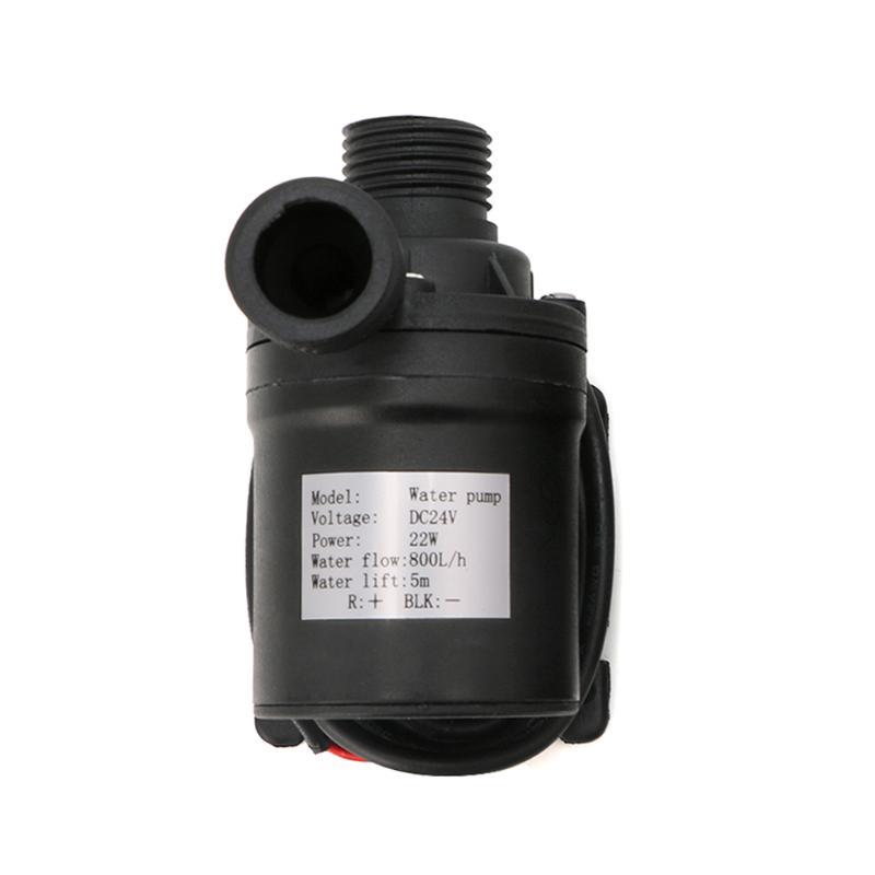 Pump 800L//H 5m DC 12V 24V Solar Brushless Motor Water Circulation Water Pump Submersibles Water Pumps Voltage: 12V