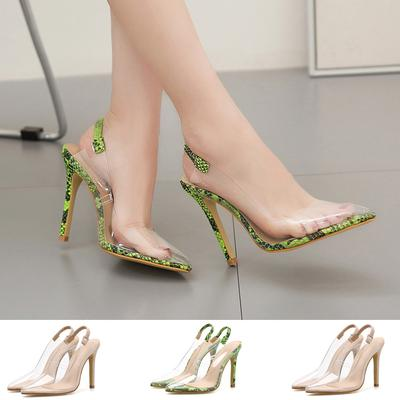 Women Sandals,Women Fashion Heels Pumps Pointed Toe Slingback Casual Crystal Fish Mouth Sandals Dress Shoes