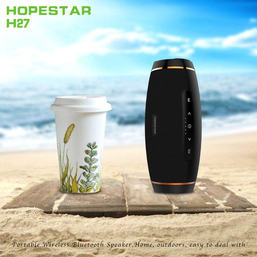 HOPESTAR H27 Portable Olive Shape Bluetooth Speaker FM Transmitter Power Bank DF