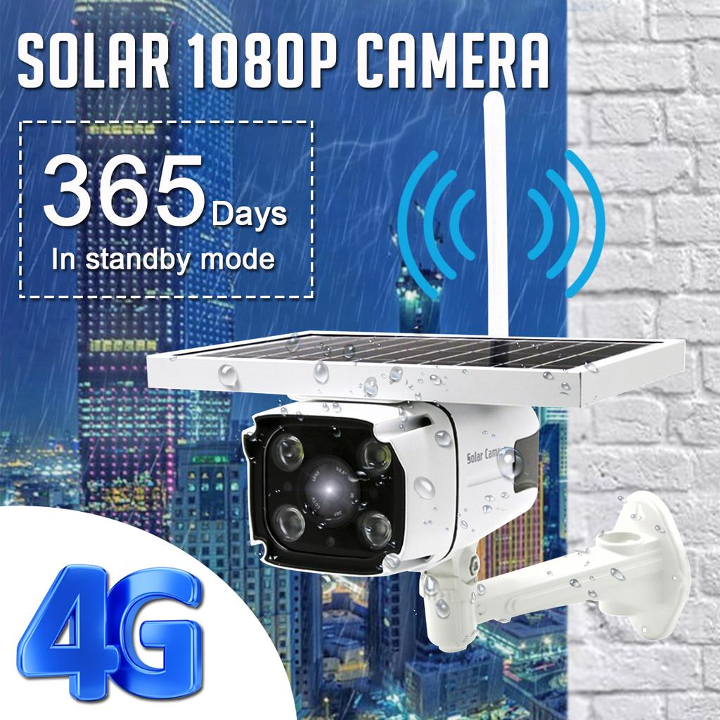 1080P WiFi 5.5W IP67 2-Way Intercom IR-Cut Solar Power Outdoor Camera