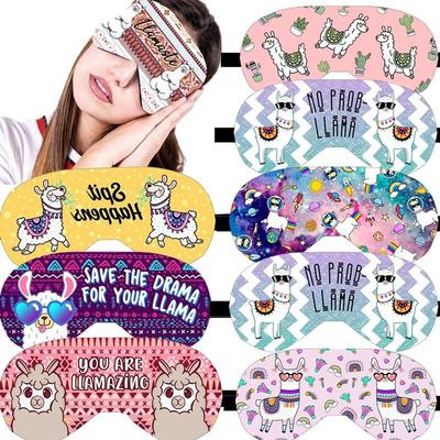 Sleeping Eye Mask Cartoon Eye Mask Imitation Silk Sleeping
