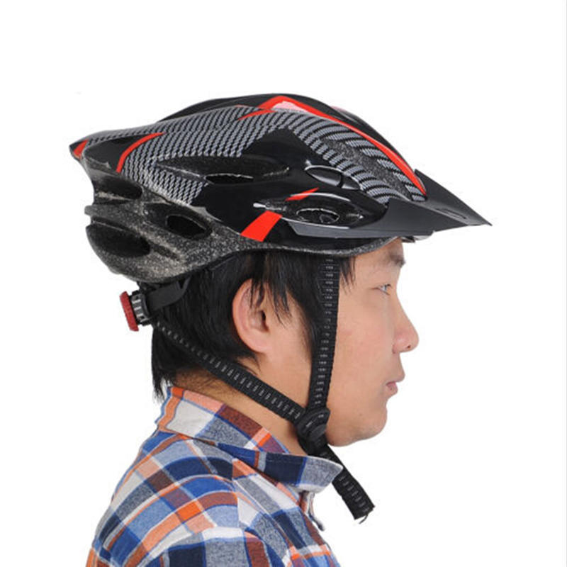 Cycling Bicycle Adult Men/'s Bike Helmet Red carbon color With Visor Mountai nFEH