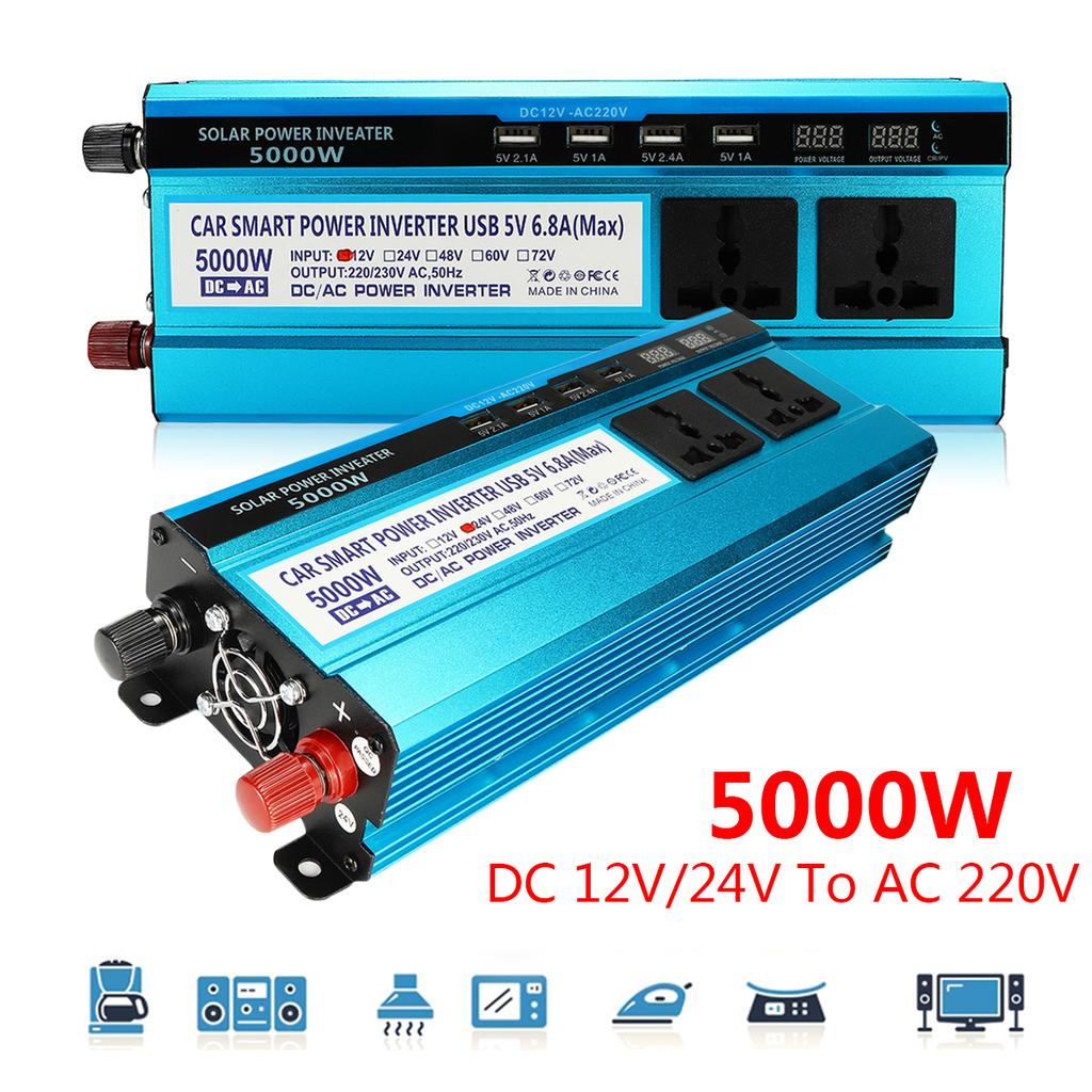 Solar Inverter 5000w Car Lcd Power Dc 12 24v To Ac 220v Sine Wave Usb Converter Supplies Gt Chargers Low Voltage Charger Circuit Christmas Buy At A Prices On Joom E Commerce Platform