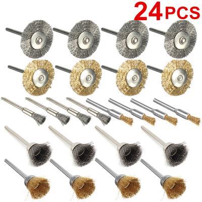 10 Stücke Rotary Polnischen Werkzeuge Stahldraht Rad Pinsel Tasse Rost Zubehör