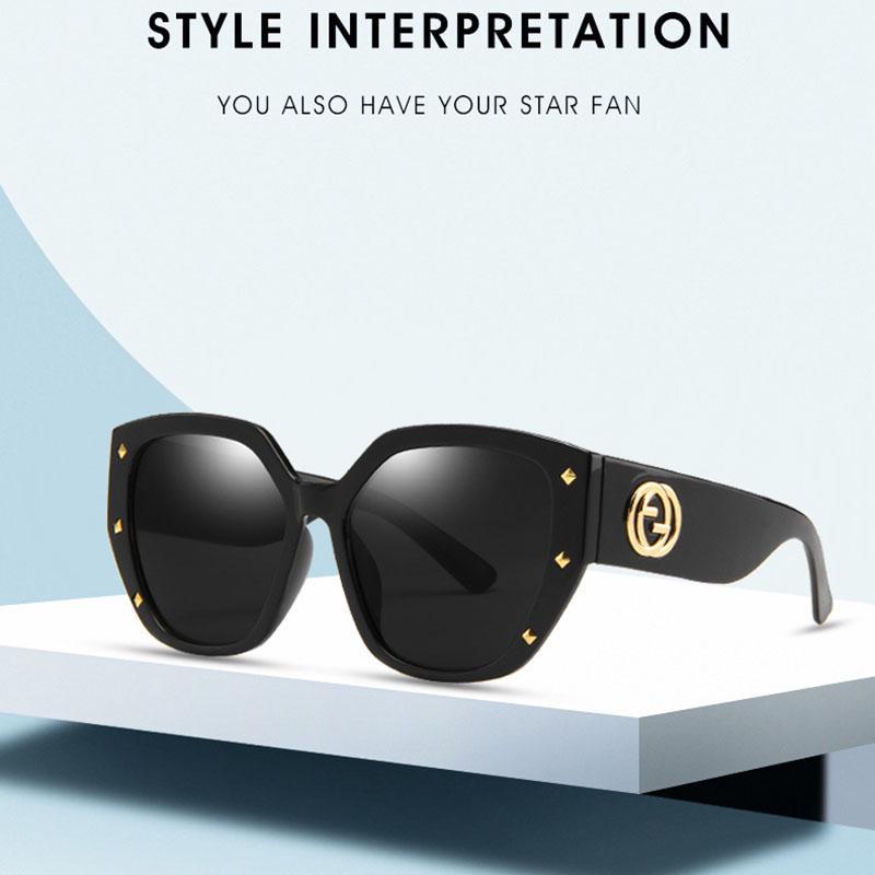 Мода Оттенки негабаритных индивидуальность Металл Ривет Солнцезащитные очки Tideway ВС Затенение Driveing – купить по низким ценам в интернет-магазине Joom