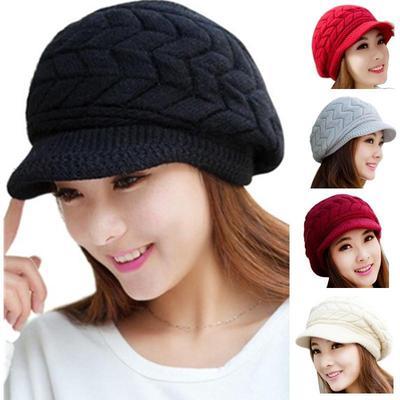 VIKOPER Womens Fashion Rhinestone Flower Hat Scarf Winter Warm Beanies Scarves Set for Girls Thick Velvet Bonnet Femme Skullies Caps