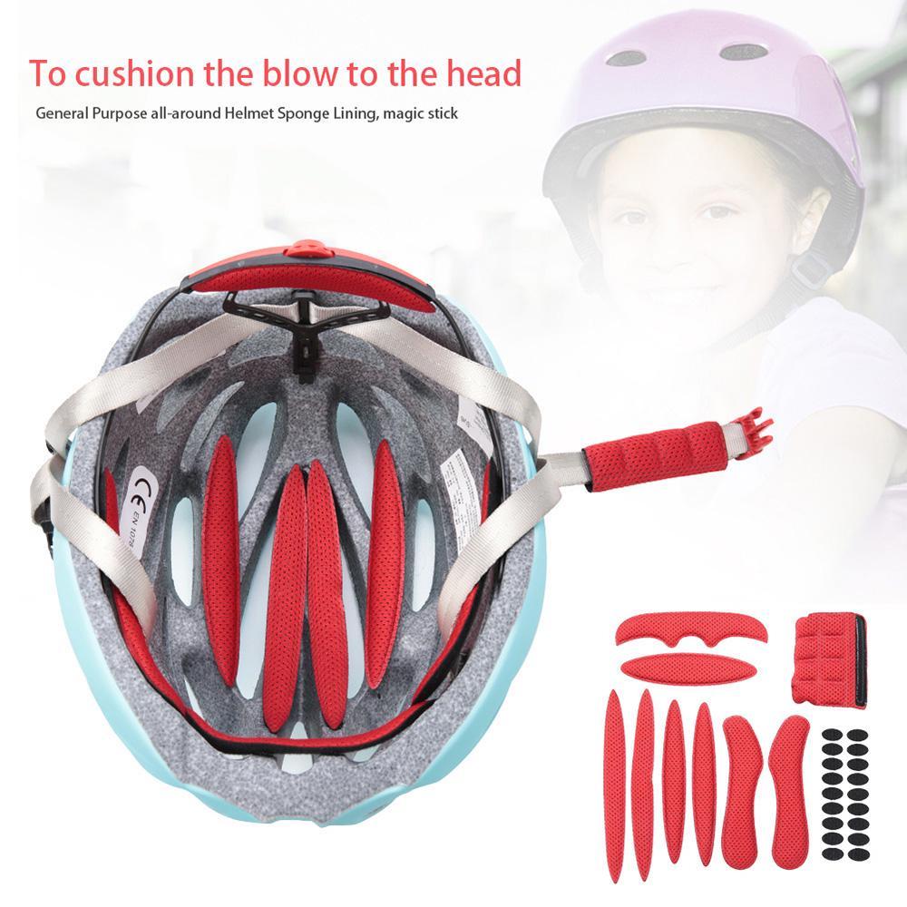 Universal Cycling Helmet Pads Sealed Sponge Bicycle Helmet of Inner Pads Pr M6J3