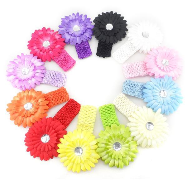 Daisy Elasticated Head band Flower Head Band Multi Coloured Daisy REDUCED