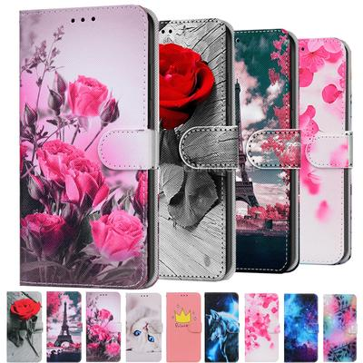 Painted Animal Flower Leather Flip Case For Samsung Galaxy A12 A32 A02S A42 A52 A72 A21 A51 A71 A01 A11 A31 A41 S20 S21 Plus Ultra Wallet Book Cover
