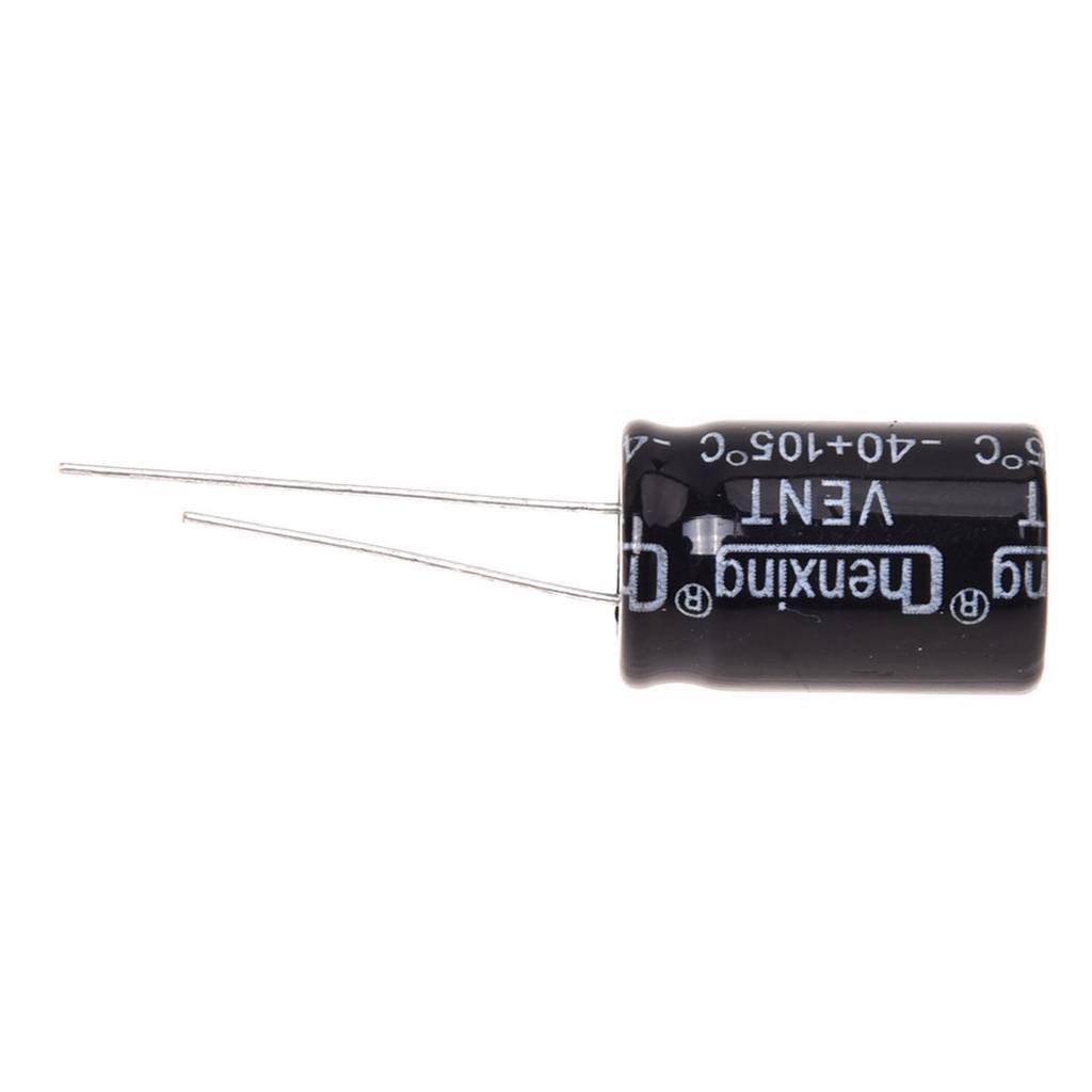 210Pcs 25 Value 0.1uF~220uF Electrolytic Capacitors Assortment Kit ASS