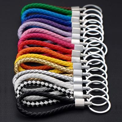 Unisex Car Braided Key Ring PU Leather Pendant Woven Rope Keychain DIY Bag