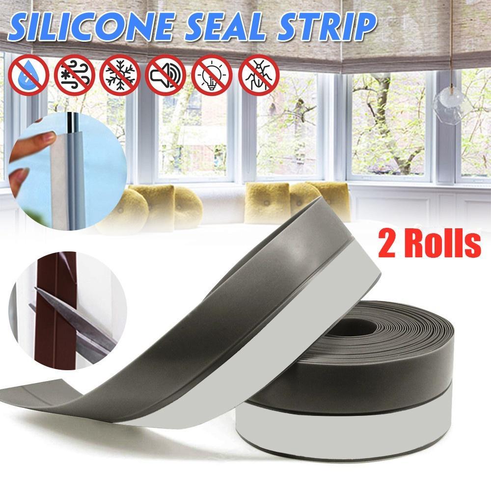 Silicone Rubber Seal Strip U Shape TEMP Anti-collision For Glass Door Desk Edge