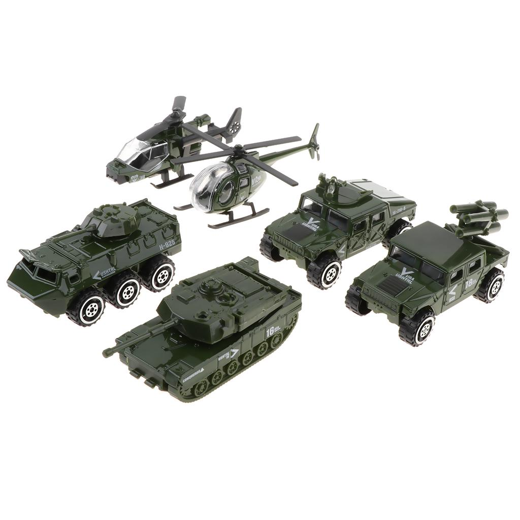 """Beige 5/"""" USA Army Military Tank Diecast Model Toy Pull Action Lights Sound"""