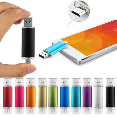 2 IN 1 Smart Phone USB Flash Drive Pendrive Micro OTG External Storage Memory Stick U