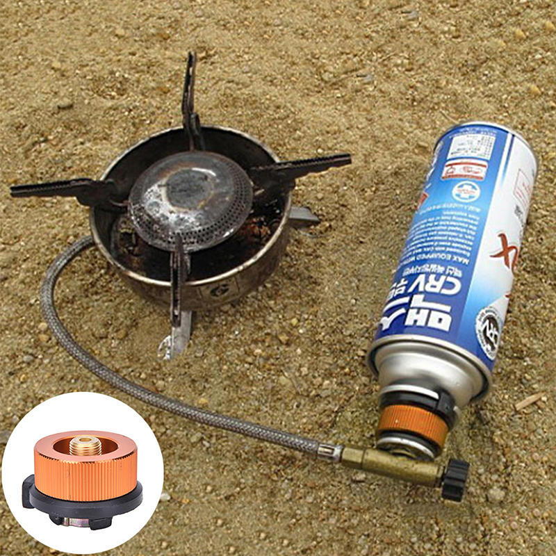 Picnic Burner Cartridge Gas Fuel Canister Stove Cans Adapter Converter HeadR kc