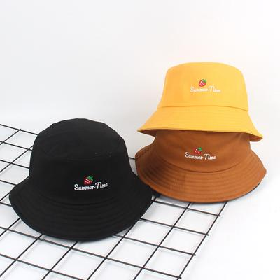 eb74987d68b Bordado cubo sombrero hombres mujeres Hip Hop pescador tapa adulto sombrero  Bob verano amantes plana sombreros